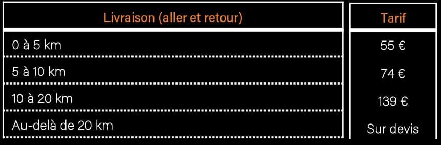 AVM Vigneux de Bretagne - Tarifs livraison